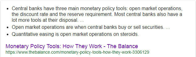 How central banks control money supply goole snippet